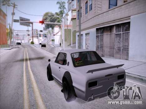 Nissan Skyline 2000 GT-R Drift Edition for GTA San Andreas back view
