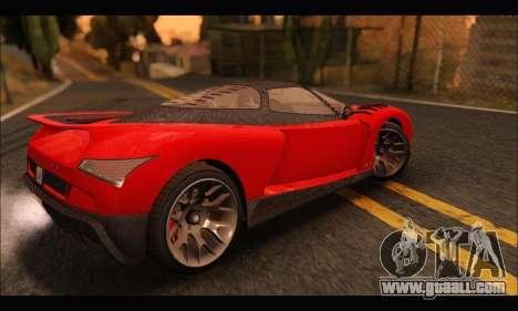 Grotti Cheetah v3 (GTA V) for GTA San Andreas back left view