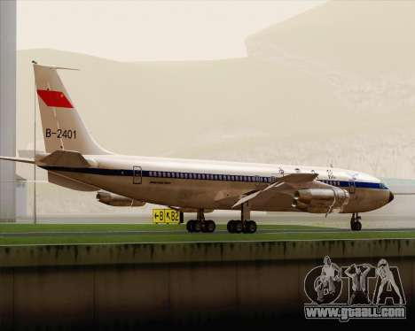 Boeing 707-300 CAAC for GTA San Andreas right view