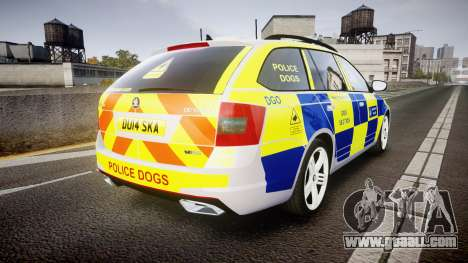 Skoda Octavia Combi vRS 2014 [ELS] Dog Unit for GTA 4 back left view