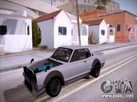 Nissan Skyline 2000 GT-R Drift Edition for GTA San Andreas