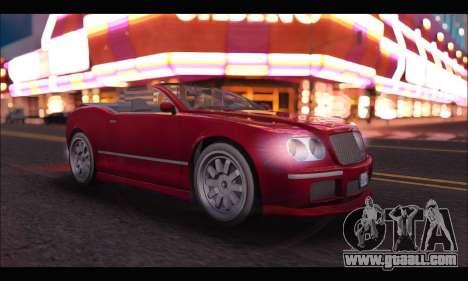 Enus Cognoscenti Cabrio (GTA V) for GTA San Andreas left view