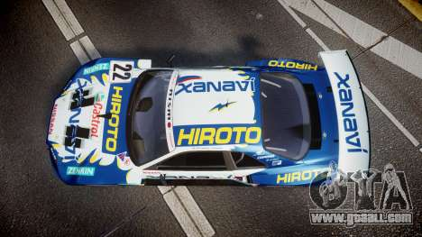 Nissan Skyline R34 2003 JGTC Xanavi Hiroto for GTA 4 right view