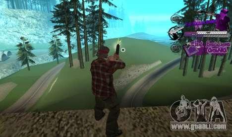 C-HUD Ballas for GTA San Andreas second screenshot
