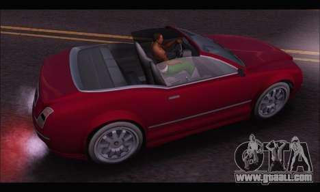 Enus Cognoscenti Cabrio (GTA V) for GTA San Andreas back view