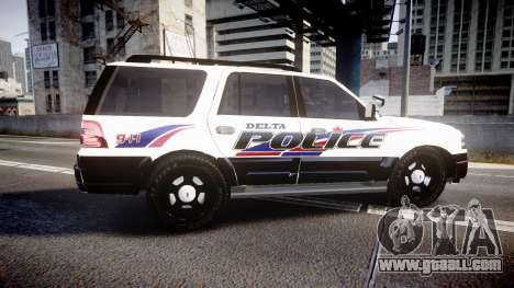 Ford Expedition 2010 Delta Police [ELS] for GTA 4 left view