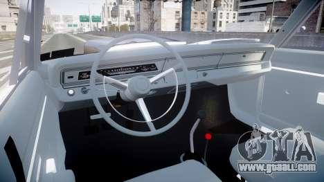 Dodge Dart HEMI Super Stock 1968 rims4 for GTA 4 back view