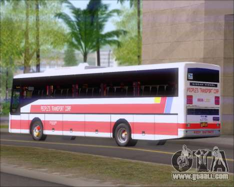 Nissan Diesel UD Peoples Transport Corporation for GTA San Andreas back view