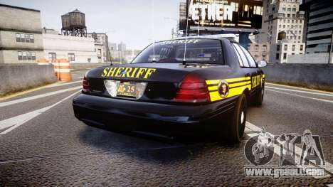 Ford Crown Victoria Sheriff [ELS] black for GTA 4 back left view