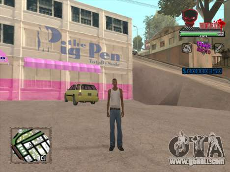 C-HUD by VinC for GTA San Andreas third screenshot