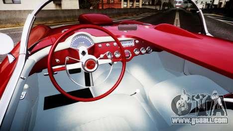 Chevrolet Corvette C1 1953 race for GTA 4 back view