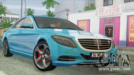 Mercedes-Benz S350 2015 Bluetec for GTA San Andreas