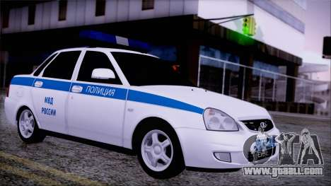 Lada Priora 2170 police of the MIA of Russia for GTA San Andreas