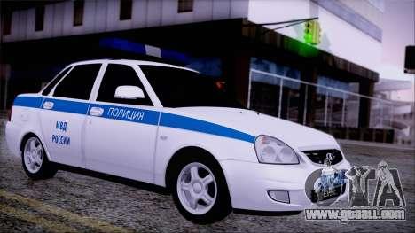 Lada Priora 2170 police of the MIA of Russia for GTA San Andreas