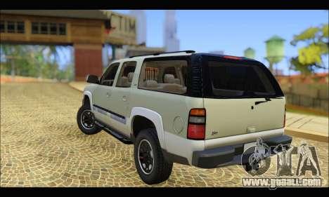 GMC Yukon XL 2003 v.2 for GTA San Andreas back left view