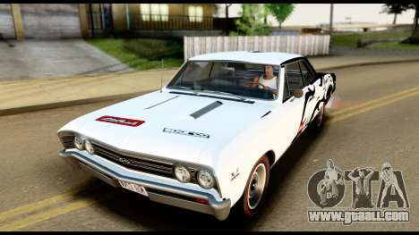 Chevrolet Chevelle SS 396 L78 Hardtop Coupe 1967 for GTA San Andreas engine