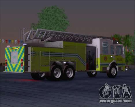 Pierce Arrow XT Miami Dade FD Ladder 22 for GTA San Andreas right view