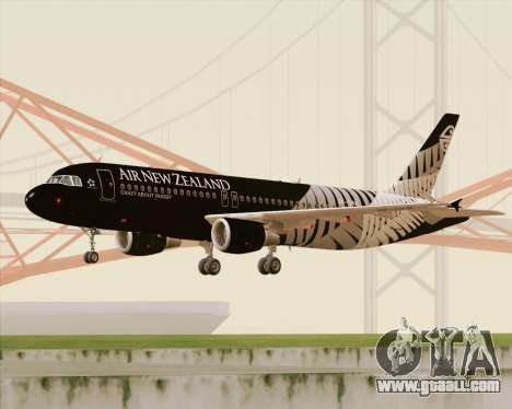 Airbus A320-200 Air New Zealand for GTA San Andreas left view