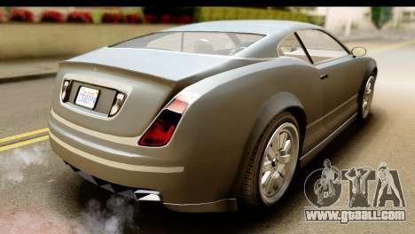 GTA 5 Enus Cognoscenti Cabrio SA Mobile for GTA San Andreas back left view