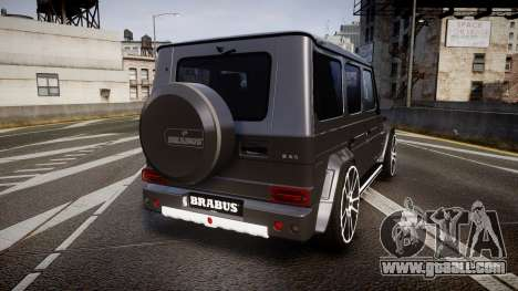Mercedes-Benz G65 Brabus rims2 for GTA 4 back left view