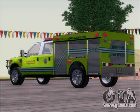 Ford F350 XLT Super Duty MDFD Batalion Chief 12 for GTA San Andreas left view