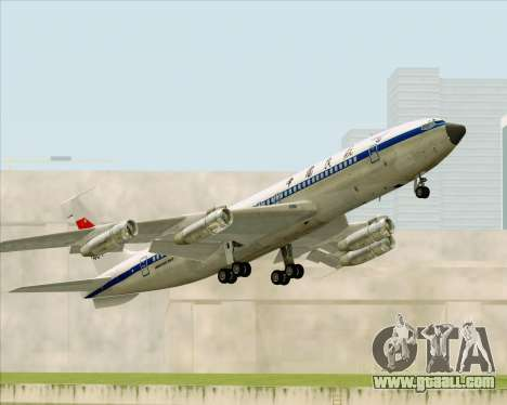 Boeing 707-300 CAAC for GTA San Andreas side view