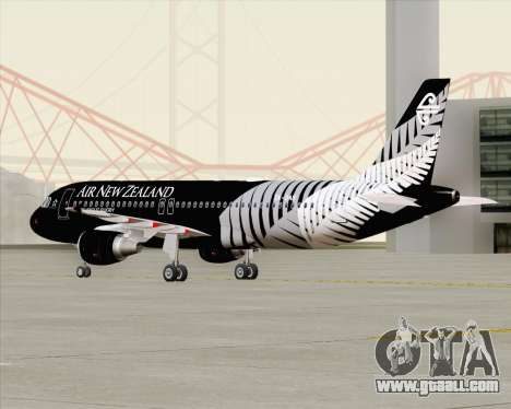 Airbus A320-200 Air New Zealand for GTA San Andreas side view