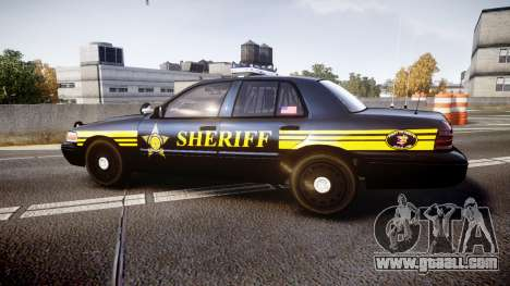 Ford Crown Victoria Sheriff [ELS] black for GTA 4 left view