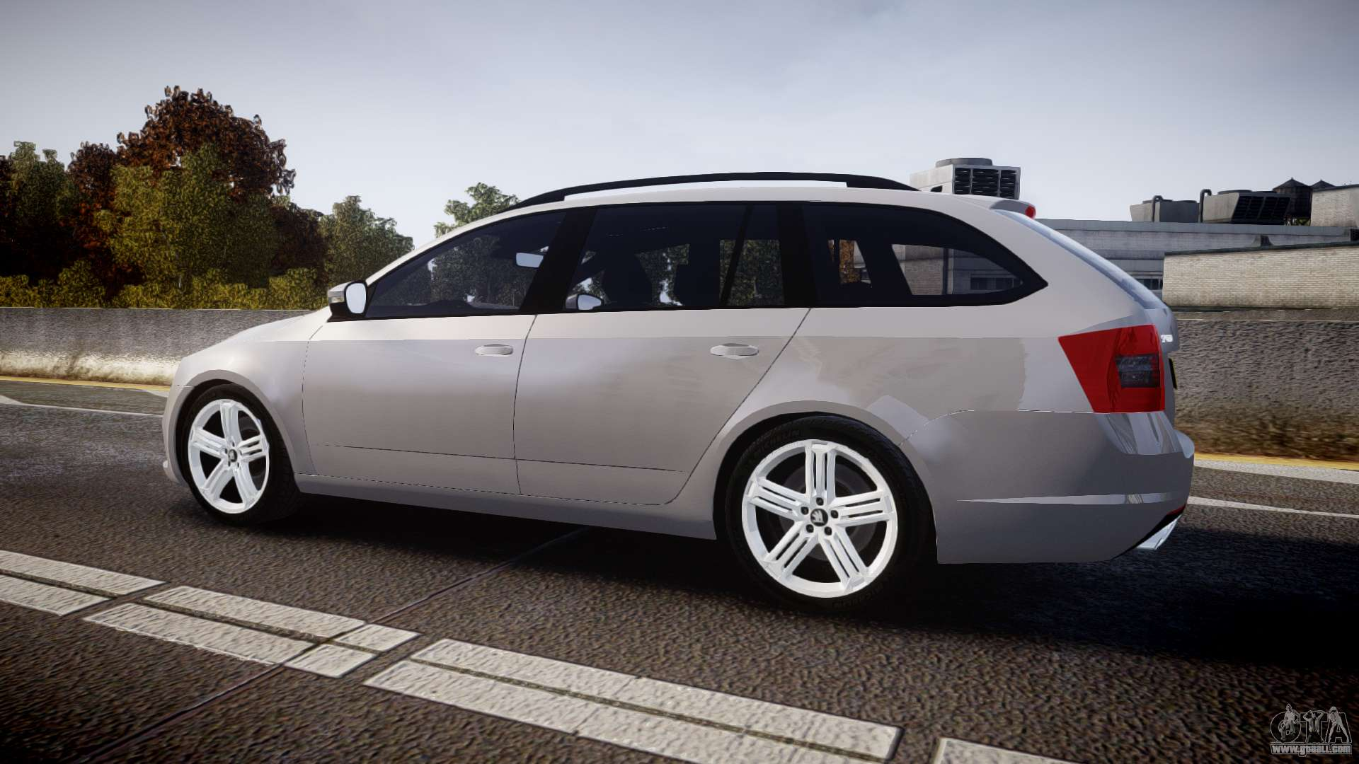 skoda octavia combi vrs 2014 els unmarked for gta 4. Black Bedroom Furniture Sets. Home Design Ideas