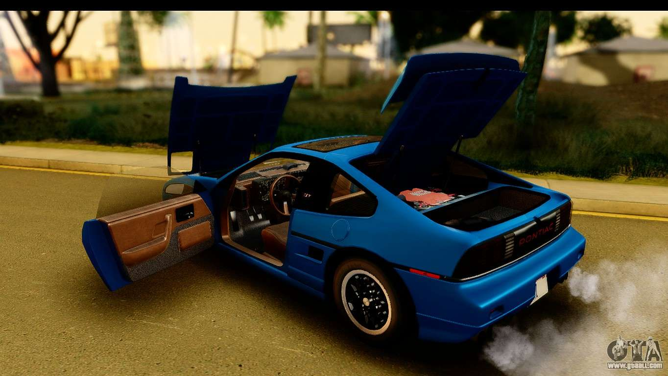 Pontiac Fiero Gt G97 1985 Ivf For Gta San Andreas Dashboard