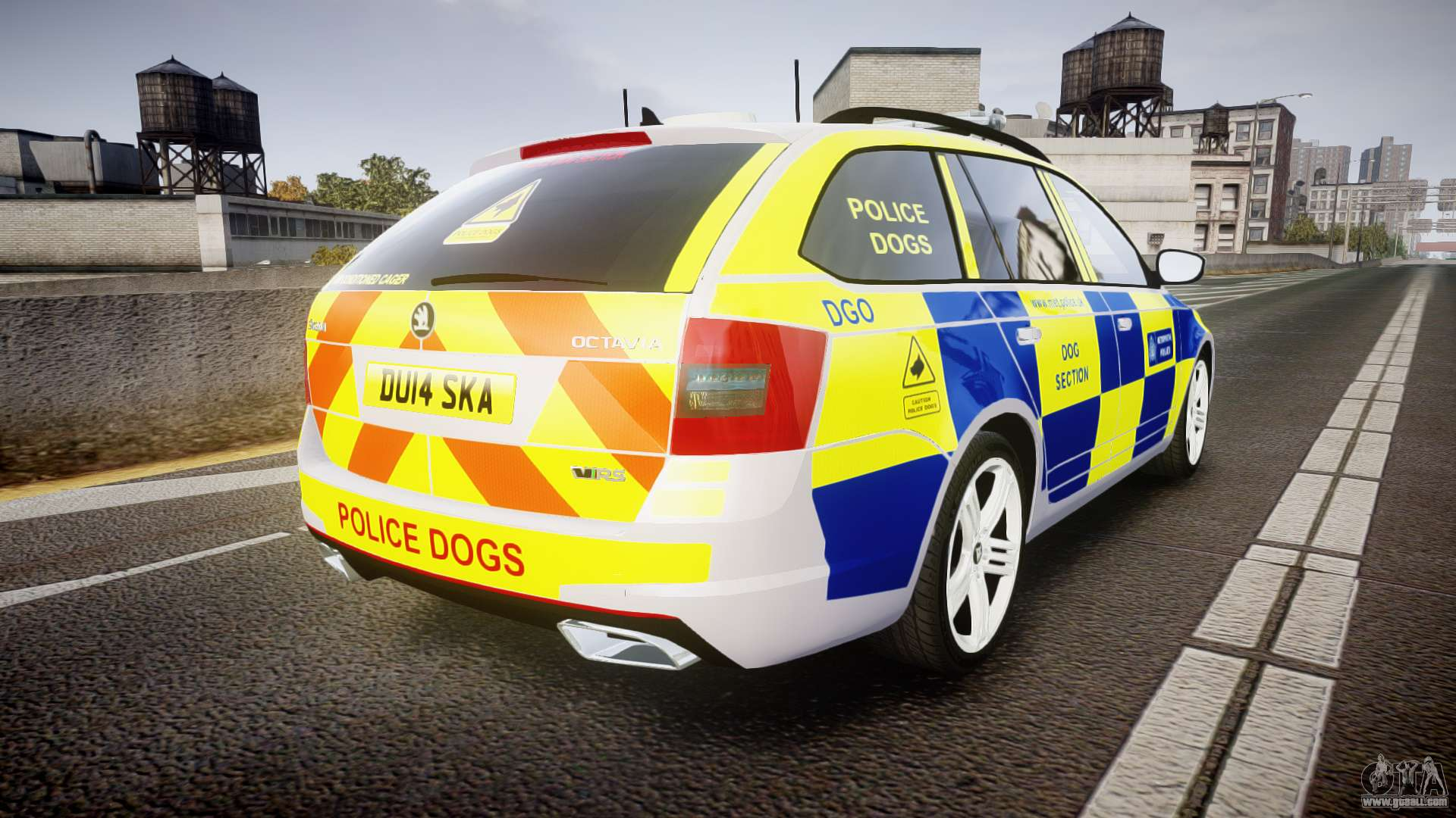 skoda octavia combi vrs 2014 els dog unit for gta 4. Black Bedroom Furniture Sets. Home Design Ideas