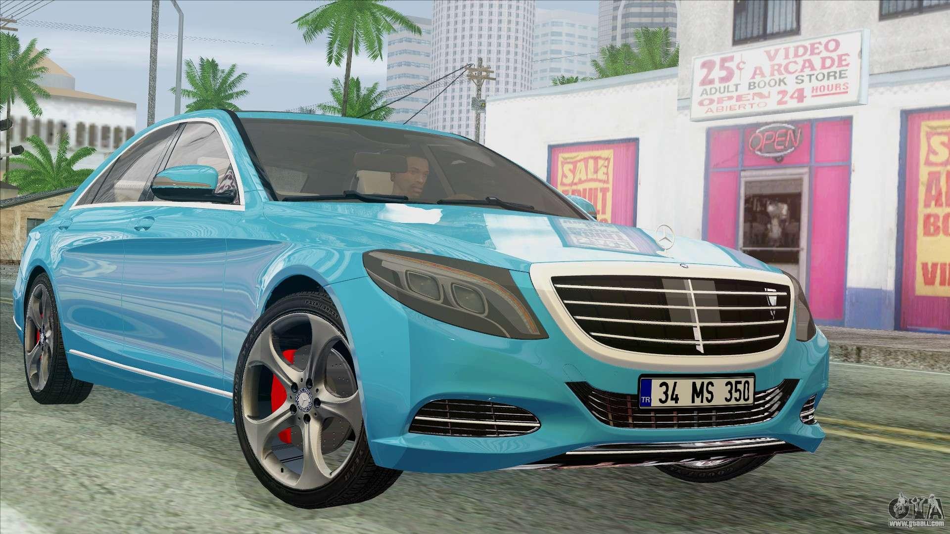 Mercedes benz s350 2015 bluetec for gta san andreas for Mercedes benz s350
