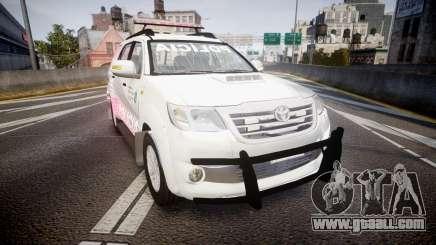 Toyota Hilux SW4 2014 Ronda PMCE [ELS] for GTA 4