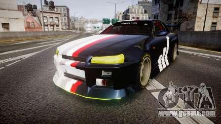 Nissan Skyline R34 GT-R Drift for GTA 4