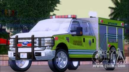 Ford F350 XLT Super Duty MDFD Batalion Chief 12 for GTA San Andreas