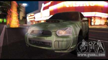 Subaru Impreza WRX Camo for GTA San Andreas