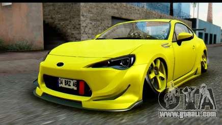 Subaru BRZ 2013 for GTA San Andreas