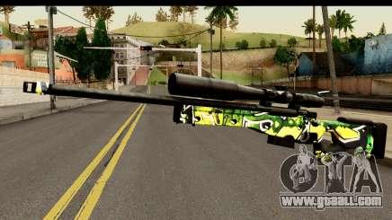 Grafiti Sniper Rifle for GTA San Andreas