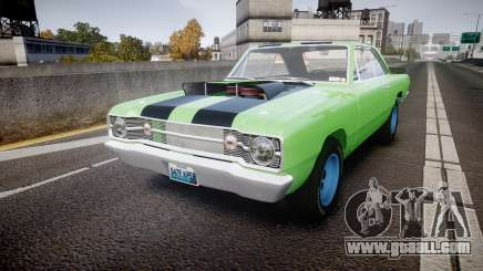 Dodge Dart HEMI Super Stock 1968 rims3 for GTA 4