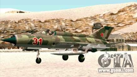 MiG 21 the Soviet air force for GTA San Andreas