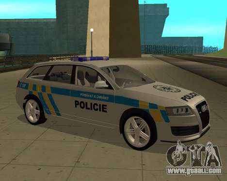 Audi RS6 Combi Police Czech Republic for GTA San Andreas back left view