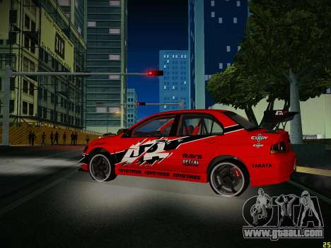 Mitsubishi Lancer Tokyo Drift for GTA San Andreas side view
