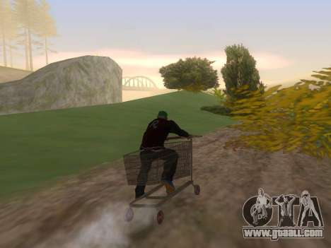 Shopping Cart for GTA San Andreas left view