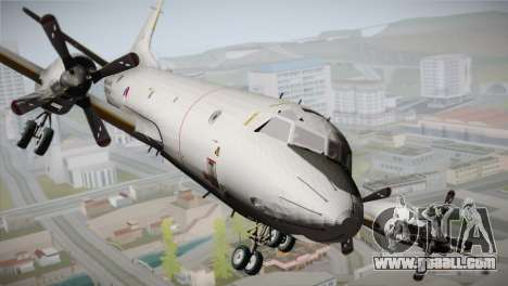 Lockheed P-3 Orion MLD New for GTA San Andreas back view