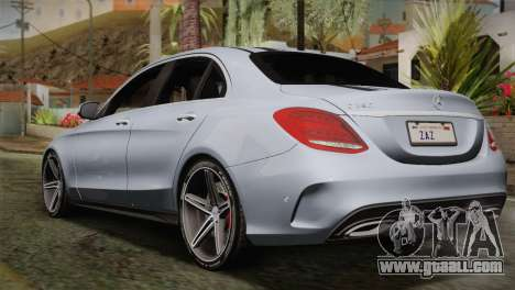 Mercedes-Benz C250 AMG Edition 2014 SA Plate for GTA San Andreas left view