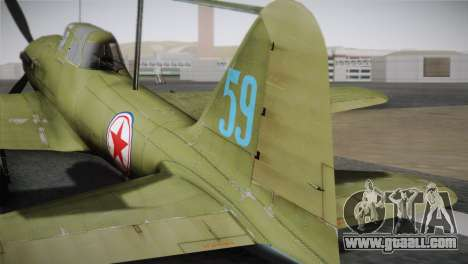 ИЛ-10 Korean Air Force for GTA San Andreas back left view
