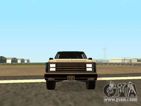 Rancher Four Door for GTA San Andreas back view