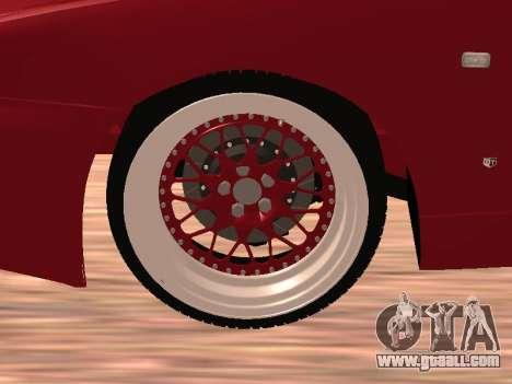 Nissan Skyline for GTA San Andreas inner view