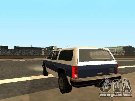 Rancher Four Door for GTA San Andreas left view