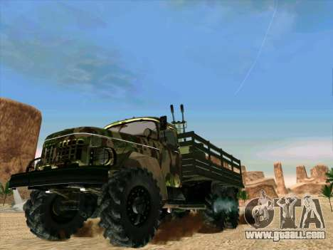 ZIL 131 Shaitan Arba for GTA San Andreas back left view